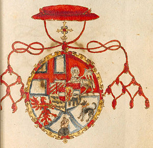 Margrave Andrew of Burgau - Andrew's coat of arms