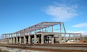 Warm Springs/South Fremont station - The station under construction in January 2014