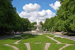 Saxon Garden - Image: Warszawa Ogród Saski fontanna