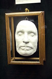 Oliver Cromwell's death mask at Warwick Castle.