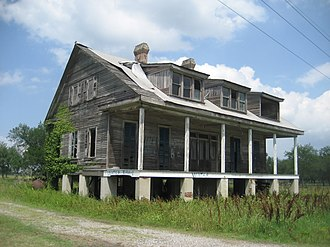 National Register of Historic Places listings in Plaquemines Parish, Louisiana - Image: Water Please House LA Hwy 39B