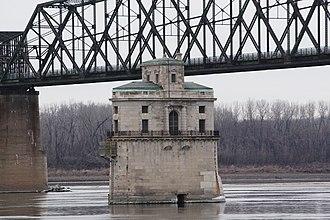 Chain of Rocks Bridge - Image: Water Intake Co RB