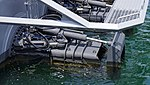Waterjet of JS Hayabusa(PG-824) left rear view at JMSDF Maizuru Naval Base July 27, 2014.jpg