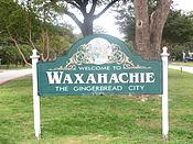 Waxahachie, TX welcome sign IMG 5588.JPG