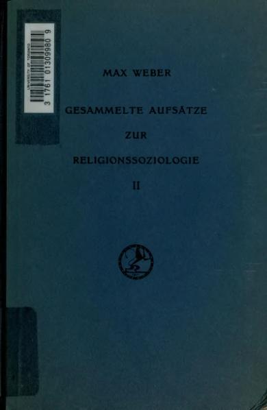 File:Weber - Gesammelte Aufsätze zur Religionssoziologie - Hinduismus und Buddhismus.djvu