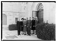 Wedding group at gov't (i.e., Government) house. Lt. Oliver Breakwell & Miss Hersey Williamson on Feb. 9, '43 LOC matpc.14249.jpg