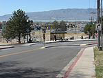 West at the UVU eastbound bus stop, Mar 15.jpg