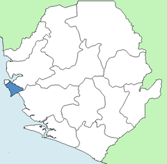Karte Western Area Rural in Sierra Leone
