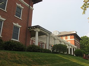 Grace College & Seminary - The Westminster Hotel on campus, now a Billy Sunday museum and resident hall