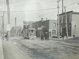 The Junction - View of The Junction in 1906. The Junction was eventually annexed by the City of Toronto in 1909.