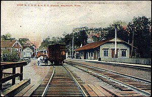 Weymouth Landing/East Braintree (MBTA station) - Weymouth station in the early 20th century