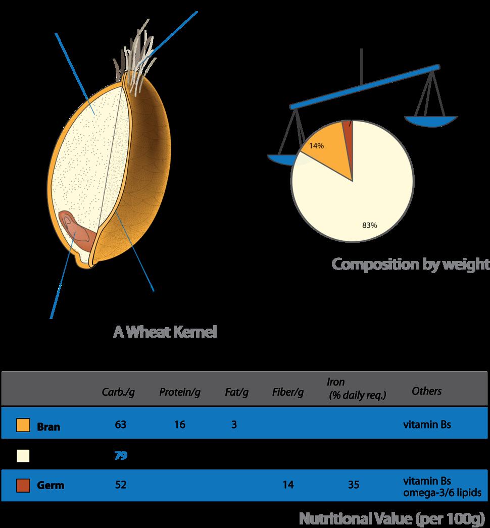 Wheat-kernel nutrition