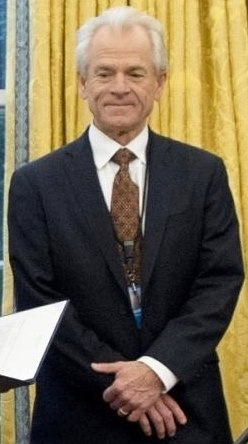 White House National Trade Council Director Peter Navarro in Orval Office in January 2017