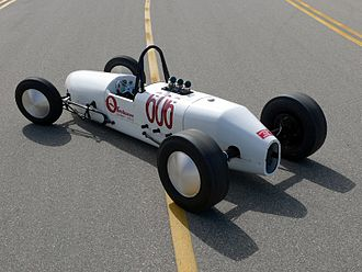"Dragster (car) - Smokin' White Owl built by George ""Ollie"" Morris in 1954"