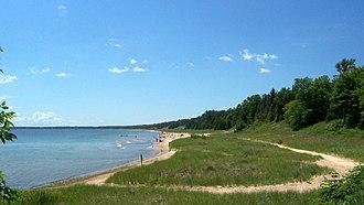 Whitefish Dunes State Park - A Lake Michigan beach in Whitefish Dunes State Park