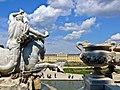 Wien-Schloss Schoenbrunn vom Neptunbrunnen aus gesehen.jpg
