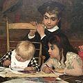 Wiki Loves Art Belgium in 2016 - Museum of Fine Arts, Ghent, Jan Frans Verhas, The Master Painter (detail) 02.jpg