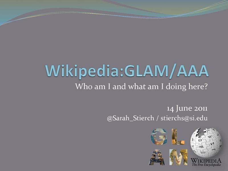 File:Wikipedia GLAM AAA Wikipedian in Residence Stierch.pdf