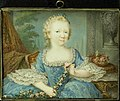 Wilhelmina Carolina (Carolina 1743-87), prinses van Oranje-Nassau, dochter van Willem IV en zuster van Willem V, als kind, SK-A-4342.jpg