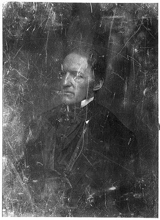 William H. Prescott - Daguerreotype portrait of Prescott by M.B. Brady, c. 1848–1850