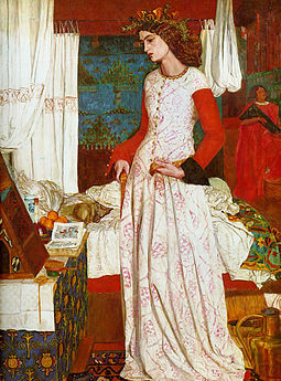 Morris's 1858 painting La belle Iseult, also inaccurately called Queen Guinevere, is his only surviving easel painting, now in the Tate Gallery. The model is Jane Burden, who married Morris in 1859. William Morris 001.jpg