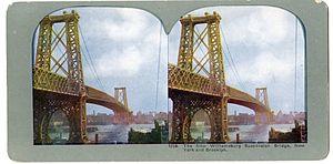 Leffert L. Buck - Williamsburg Bridge in 3D, in about 1905