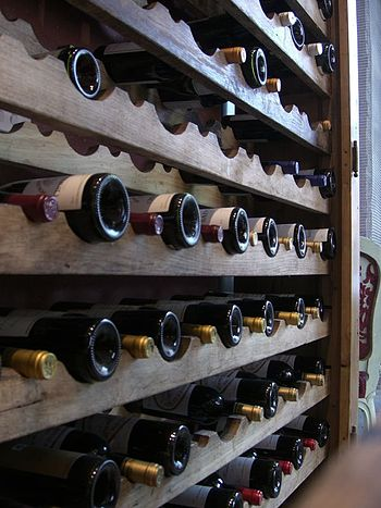 This is but one of the racks of wine in the re...