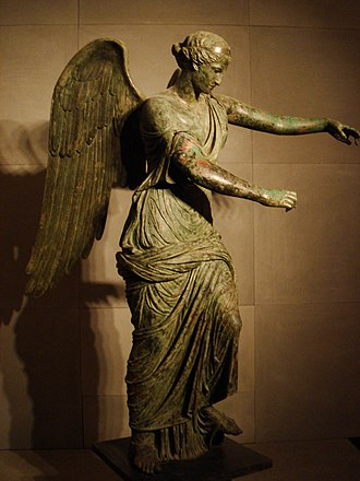 Brescia - Winged Victory of Brescia (a Greek statue of 3rd century BC, modified in the 1st century by adding the wings).