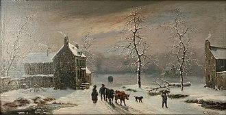 Cornelis Kruseman - Image: Winterlandschap