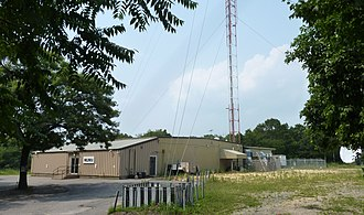 WLIW - WLIW's transmitter tower, adjacent to its studios in Plainview, New York, June 2010.