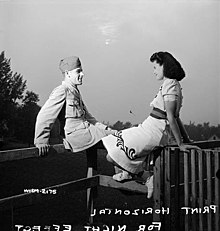 Woman worker for the Dominion Arsenals Ltd. munitions plant has a date with her boyfriend..jpg