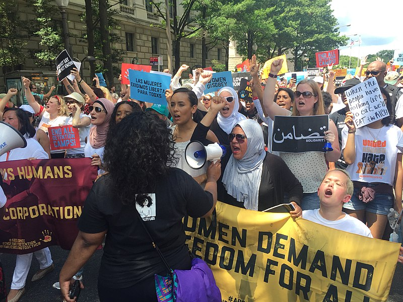 Women Protest About Immigration Policies