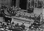 Woodrow Wilson addressing Congress (LOC)