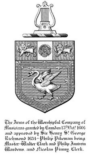 Worshipful Company of Musicians - Arms of the Company, 1905