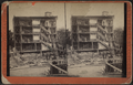 Wreckage of a multistory home, Albany County, from Robert N. Dennis collection of stereoscopic views.png