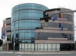 The Writers Guild West building in Los Angeles...