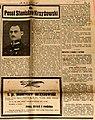 """Wspomnieniowy tekst o śp. Stanisławie Krzyżowskim. """"Polonia"""" z 4 maja 1933, nr 3077, s. 3.jpg"""