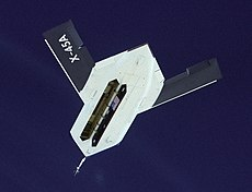 Boeing X-45, vista inferior