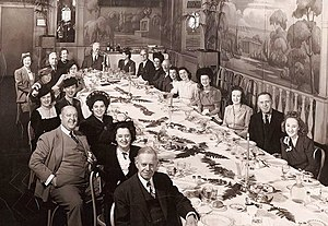 Association for Improving the Condition of the Poor - The A.I.C.P. staff Christmas luncheon in 1942
