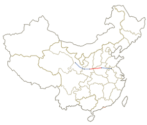 Xuzhou–Lanzhou high-speed railway - Image: Xuzhou Lanzhou Line