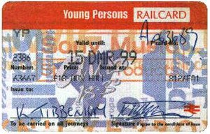 16–25 Railcard - The fourth APTIS version, with updated version of the logo
