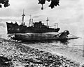 Yamazuki Maru and sub beached at Tassafaronga Point c1943.jpg