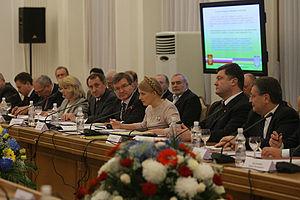 Petro Poroshenko - Poroshenko at the Russian-Ukrainian international commission meeting in 2009.