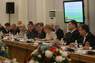 Petro Poroshenko - Poroshenko at the Russian-Ukrainian international commission meeting in 2009.