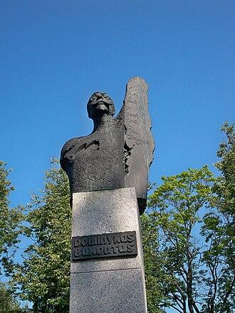 Zarasai - Dominykas Bukontas Monument