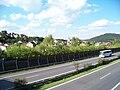 Zdice, dálnice D5 a město, z lávky.jpg