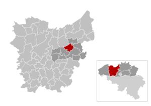Zele - Image: Zele Locatie