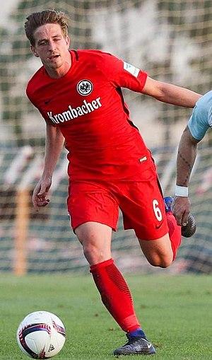 Bastian Oczipka - Oczipka playing for Eintracht Frankfurt in 2017