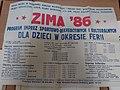 Zima 1986 w Poznaniu, afisz atrakcji dla dzieci na ferie.jpg