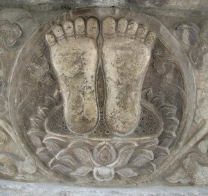 "Zhenjue Temple - ""Buddha's feet"" ornament"